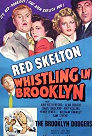 Sam Levene, Rags Ragland, Jean Rogers, Ann Rutherford, and Red Skelton in Whistling in Brooklyn (1943)