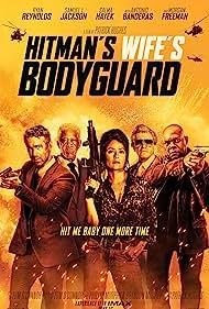 Antonio Banderas, Morgan Freeman, Salma Hayek, Samuel L. Jackson, and Ryan Reynolds in Hitman's Wife's Bodyguard (2021)
