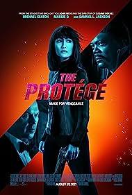 Samuel L. Jackson, Michael Keaton, and Maggie Q in The Protégé (2021)