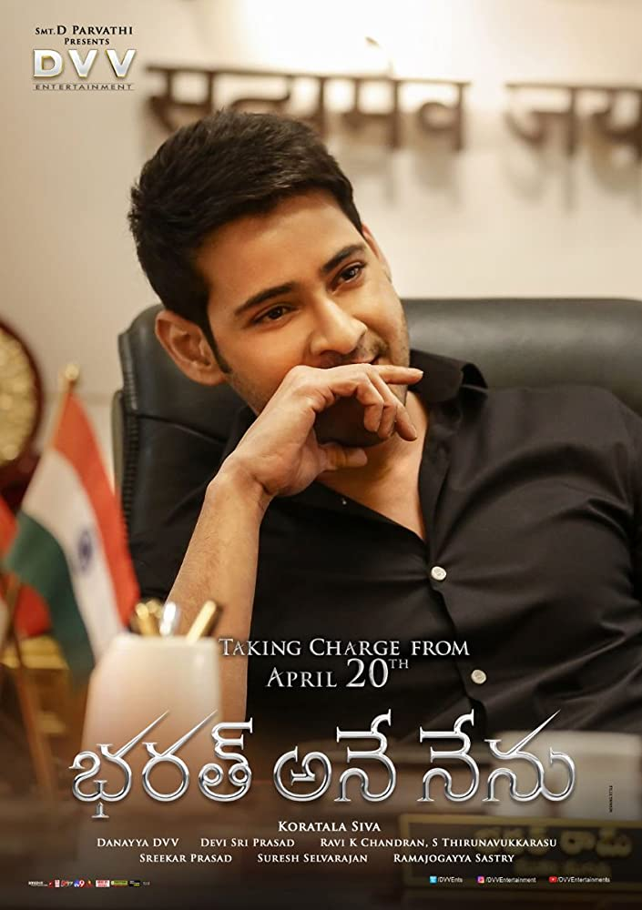 Dashing CM Bharat (Bharat Ane Nenu) (2018) 720p WEBRip ORG Hindi x264 AAC ESubs