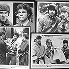 Malcolm McDowell, David Keith, and Warren Clarke in Gulag (1985)