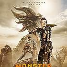 Milla Jovovich and Tony Jaa in Monster Hunter (2020)