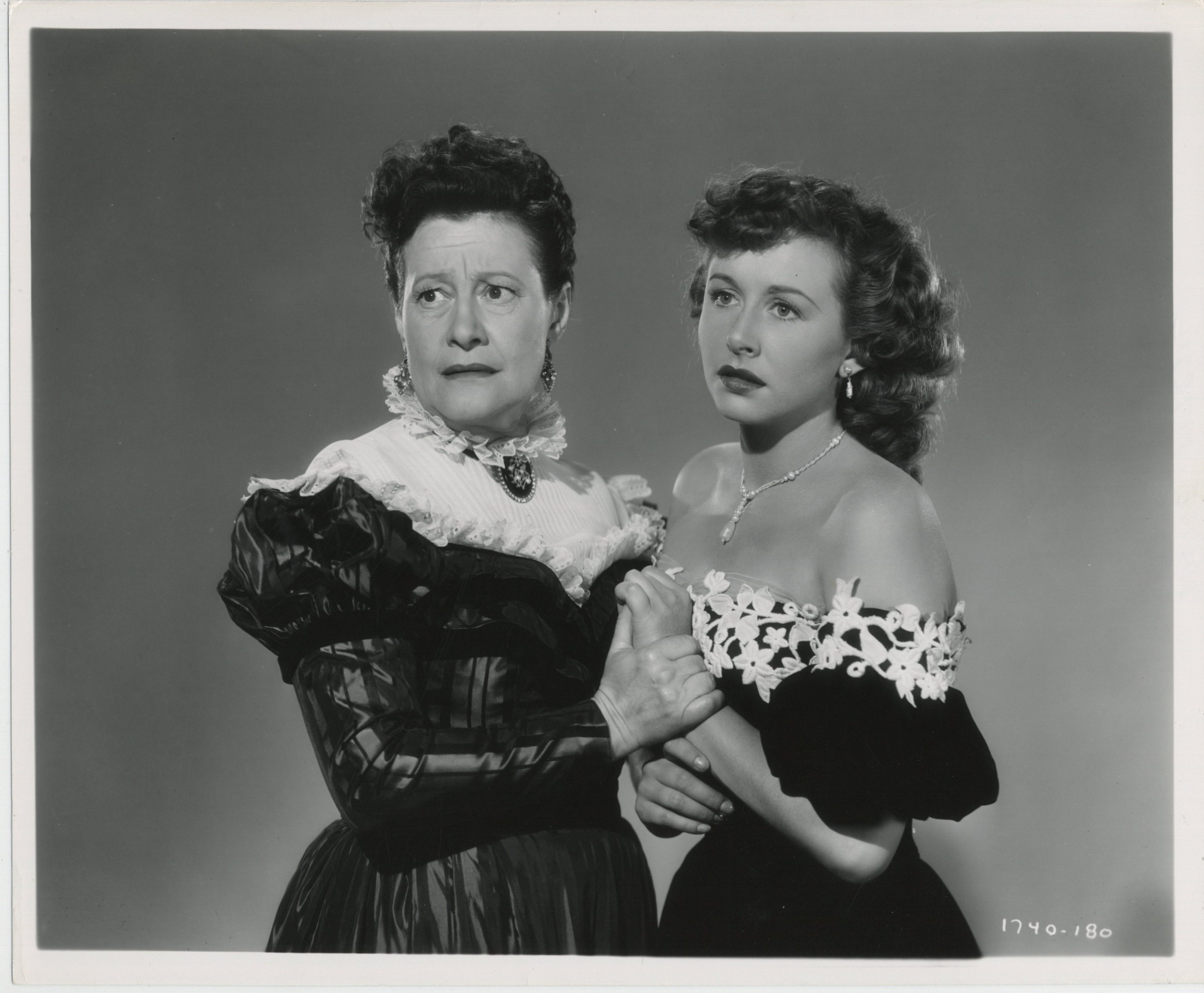 Odette Myrtil and Vera Ralston in The Fighting Kentuckian (1949)