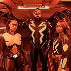 Cress Williams, China Anne McClain, and Nafessa Williams in Black Lightning (2017)