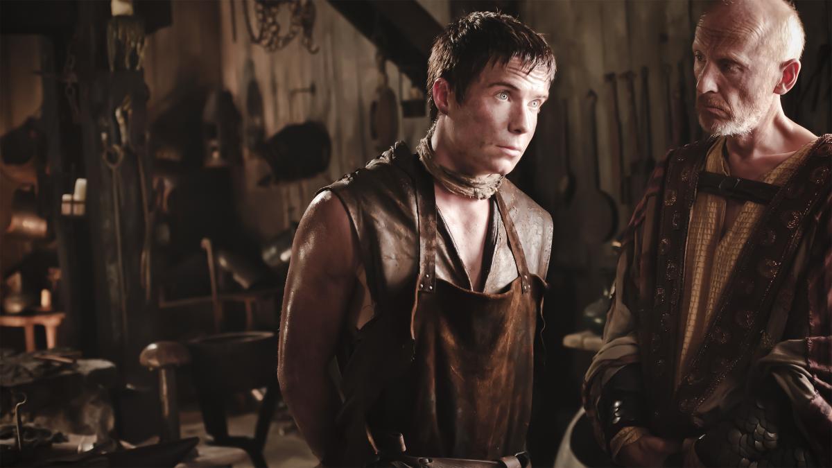Andrew Wilde and Joe Dempsie in Game of Thrones (2011)