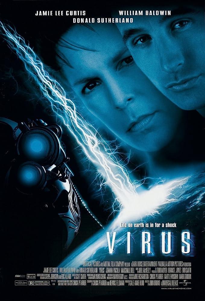 Jamie Lee Curtis and William Baldwin in Virus (1999)