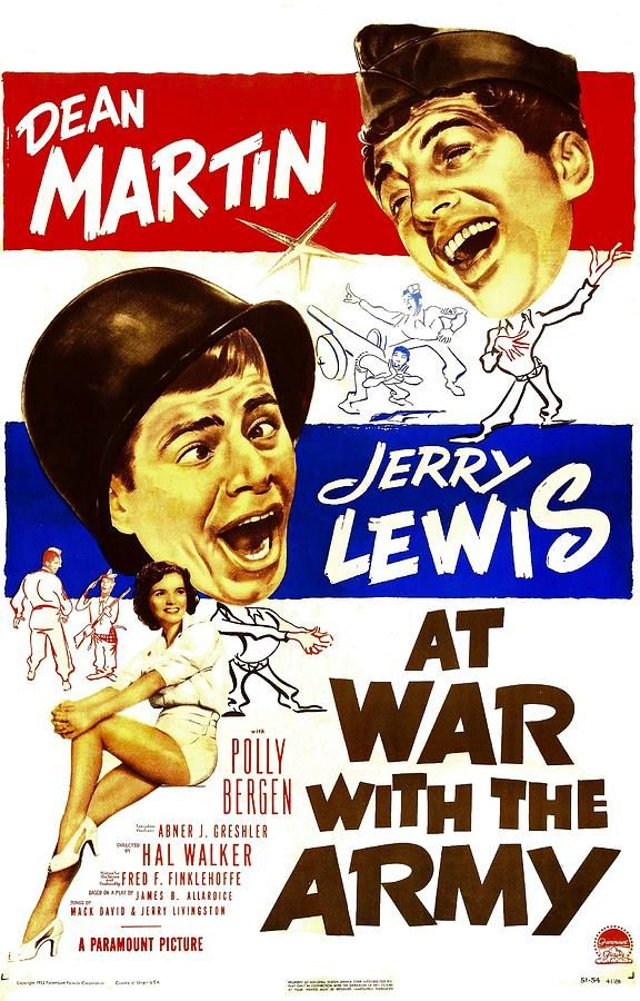 Polly Bergen, Jerry Lewis, and Dean Martin in At War with the Army (1950)