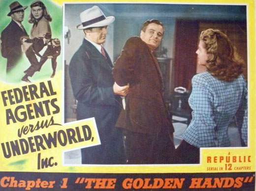 Kirk Alyn and Rosemary La Planche in Federal Agents vs. Underworld, Inc. (1949)