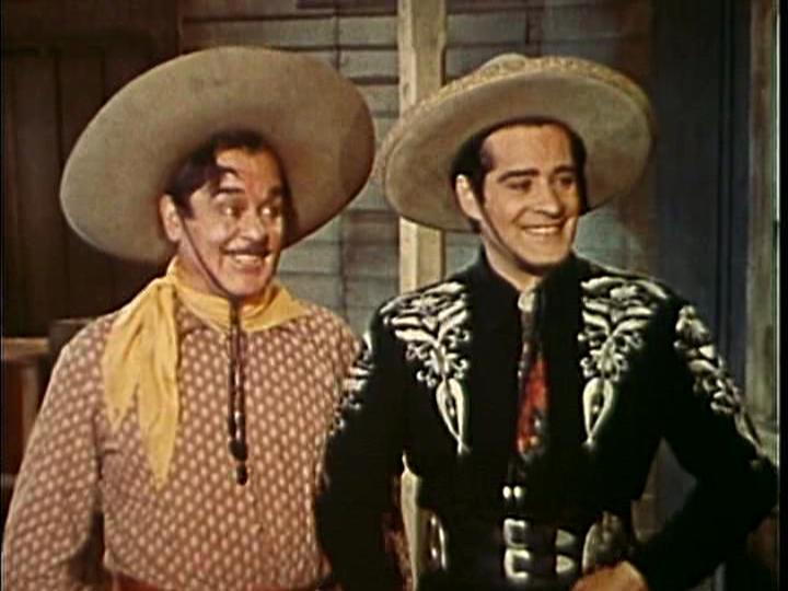 Leo Carrillo and Duncan Renaldo in The Cisco Kid 1950