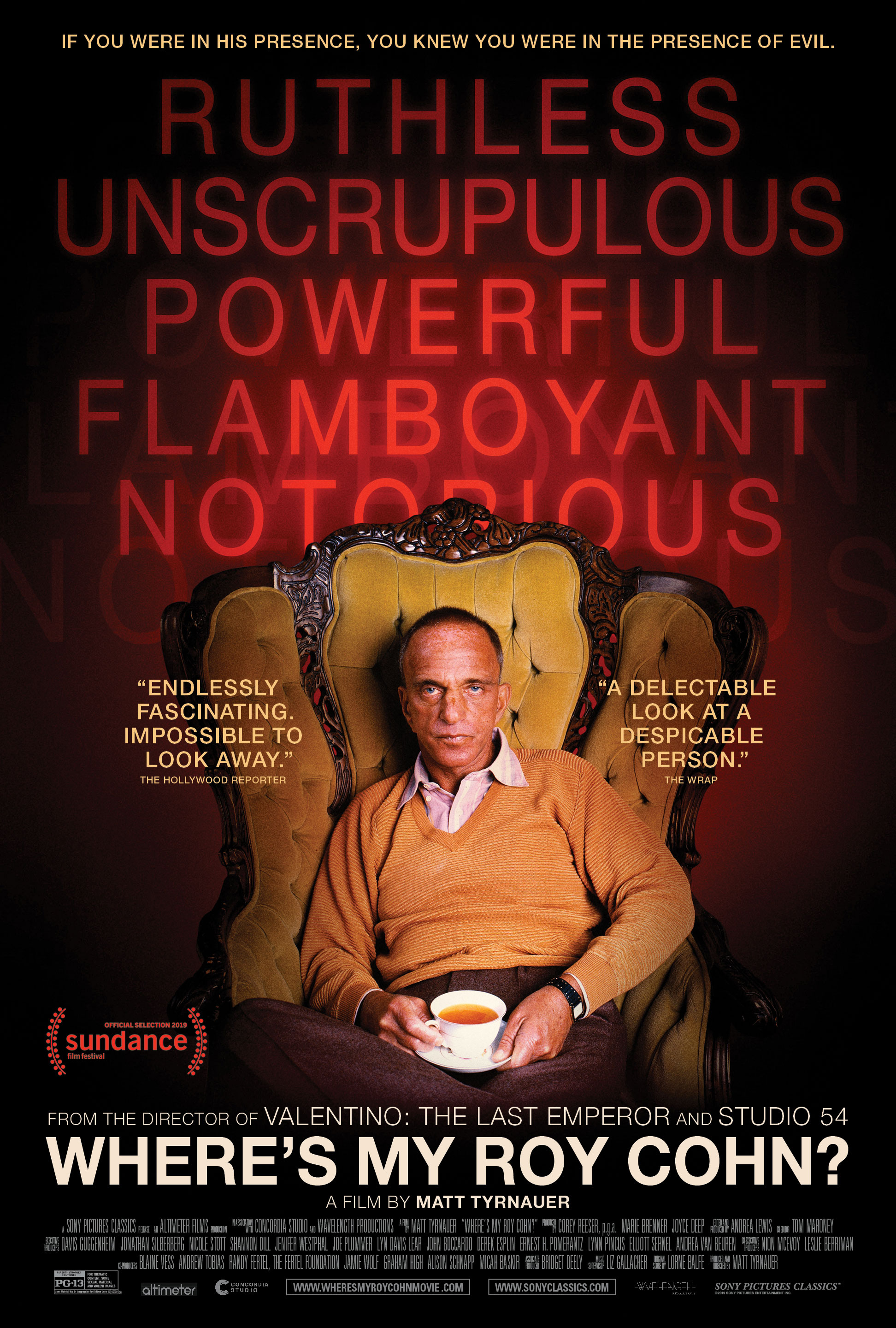 Image result for wheres my roy cohn movie poster