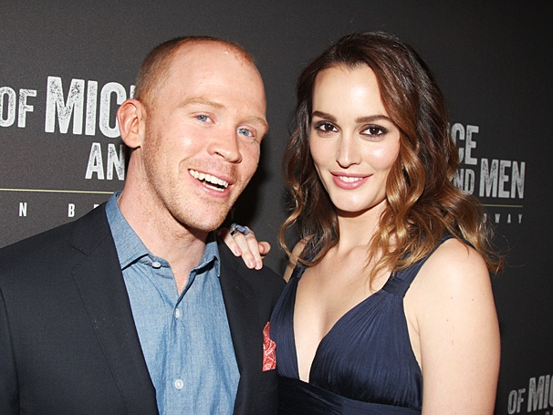 Alex Morf and Leighton Meester and the Broadway Of Mice and Men opening.
