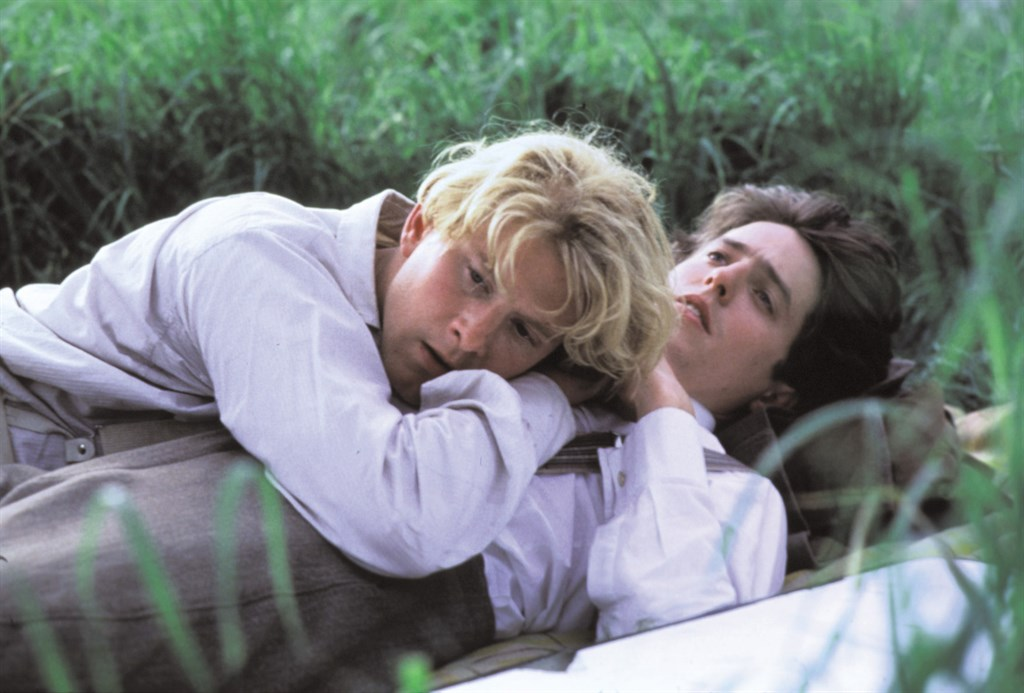 Hugh Grant and James Wilby in Maurice (1987)