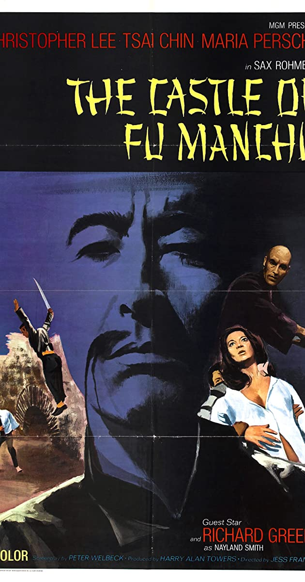 The brides of Fu Manchu Christopher Lee movie poster print