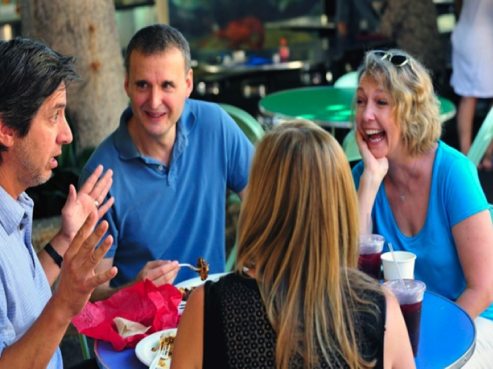 Allison Janney, Ray Romano, and Phil Rosenthal in I'll Have What Phil's Having (2015)