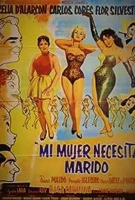 Rosa Carmina, Celia D'Alarcón, and Flor Silvestre in Mi mujer necesita marido (1959)
