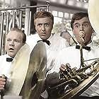 Henning Moritzen, Jørgen Ryg, and Ove Sprogøe in Forelsket i København (1960)