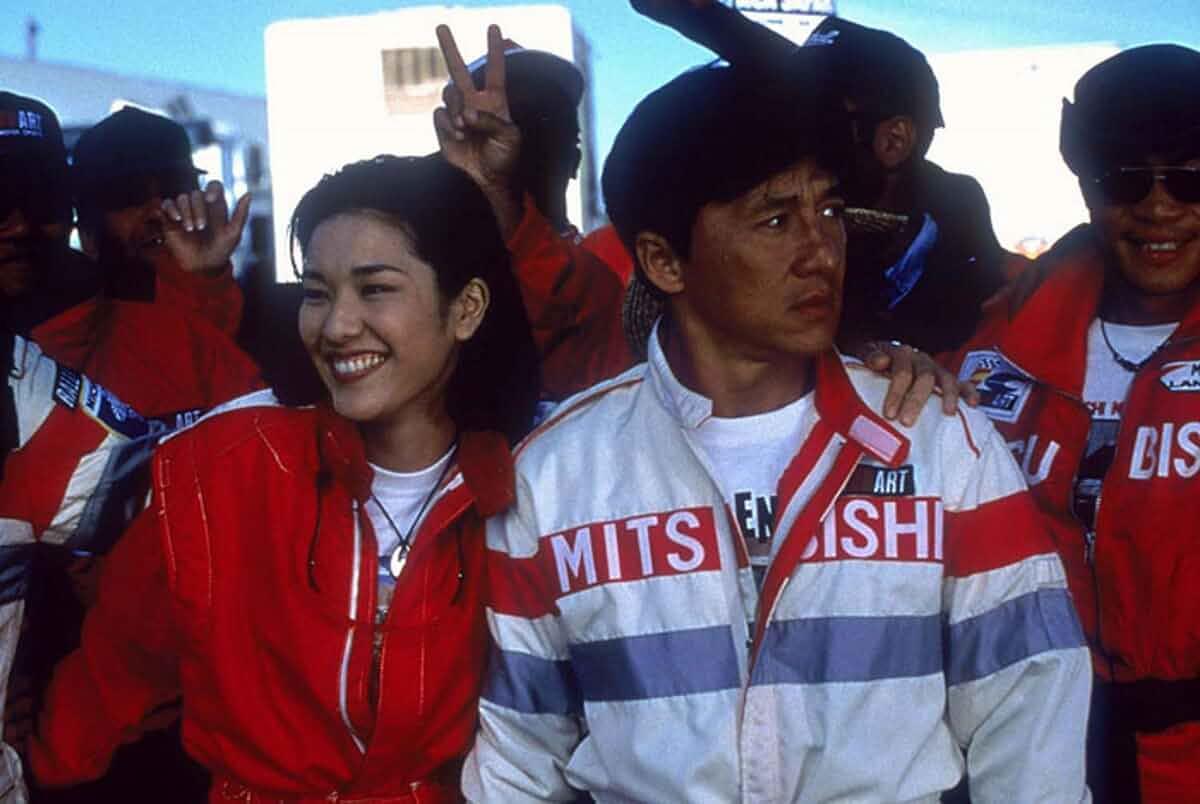 Jackie Chan and Mirai Yamamoto in Ngo si seoi (1998)