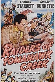 Kay Buckley, Smiley Burnette, and Charles Starrett in Raiders of Tomahawk Creek (1950)