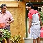 Mukesh and Dulquer Salmaan in Jomonte Suvisheshangal (2017)