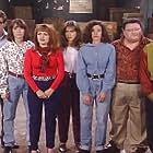 Jennifer Aniston, Wayne Knight, Julie Brown, Tom Kenny, Carol Rosenthal, James Stephens III, and Jill Talley in The Edge (1992)