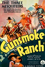 Ray Corrigan, Robert Livingston, Sammy McKim, Max Terhune, and Elmer in Gunsmoke Ranch (1937)