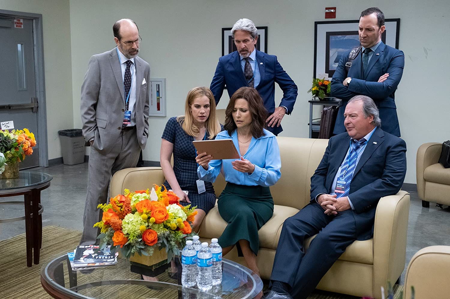 Julia Louis-Dreyfus, Anna Chlumsky, Gary Cole, Kevin Dunn, and Tony Hale in Veep (2012)