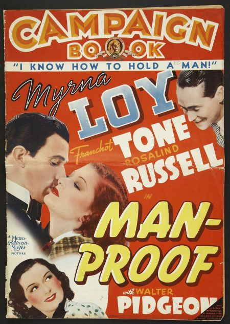 Myrna Loy, Walter Pidgeon, Rosalind Russell, and Franchot Tone in Man-Proof (1938)