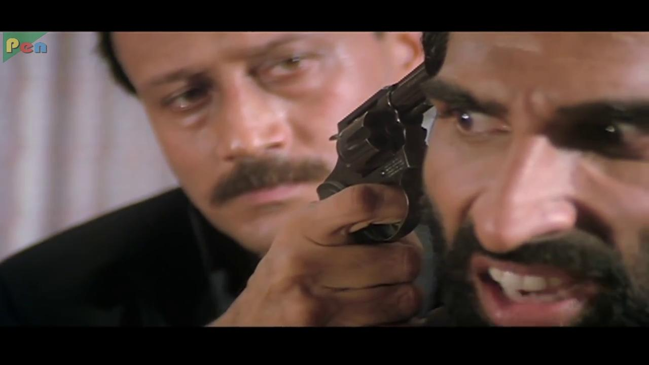 Jackie Shroff and Mukesh Rishi in Ram Shastra (1995)