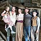 """Jaden Roberts, Drew Waters, Erin Bethea, director Clayton Miller, and Ezra Proch on the set of """"The Redemption of Henry Myers"""""""