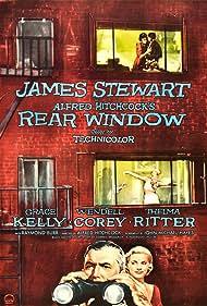 Grace Kelly and James Stewart in Rear Window (1954)
