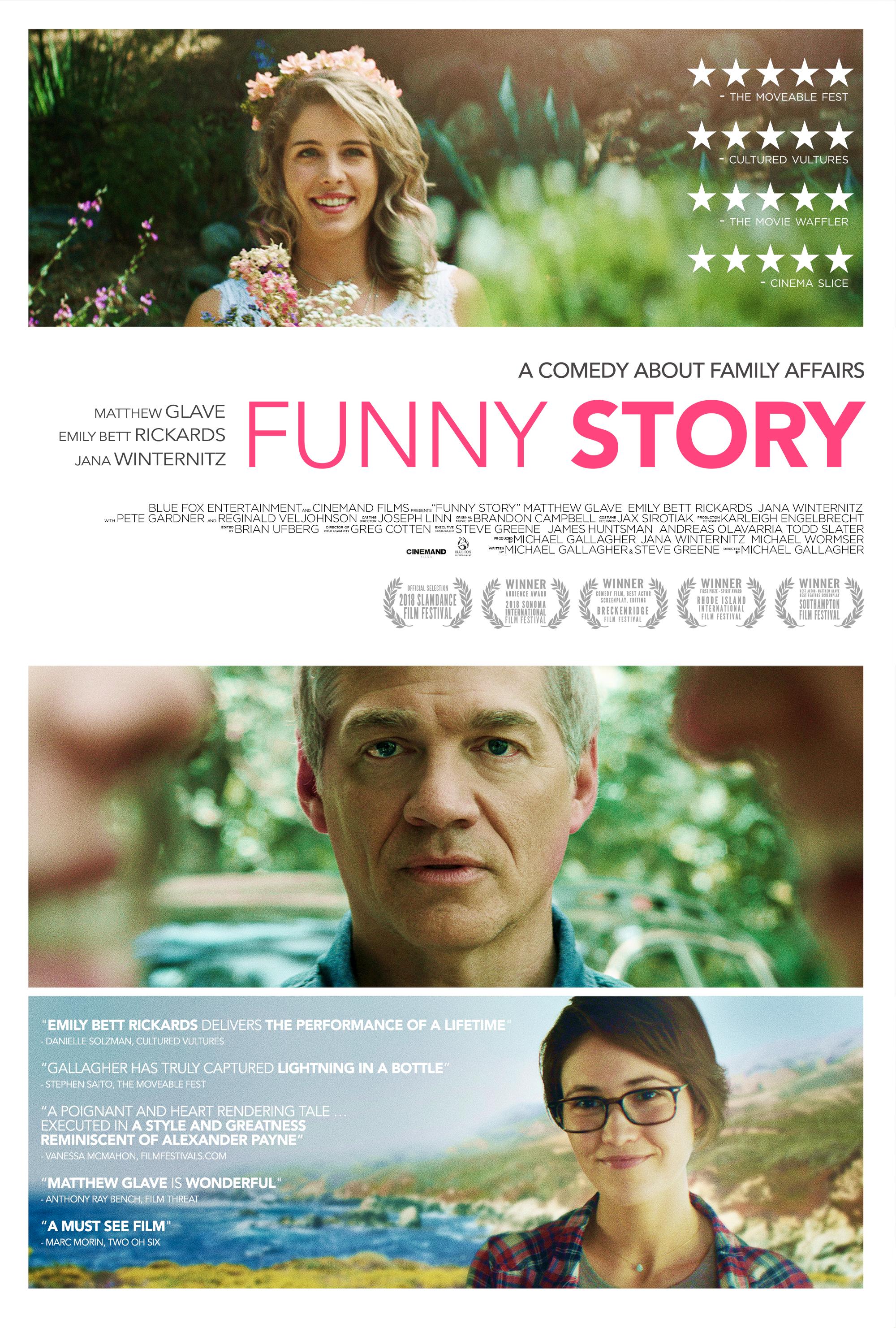 Matthew Glave, Jana Winternitz, and Emily Bett Rickards in Funny Story (2018)