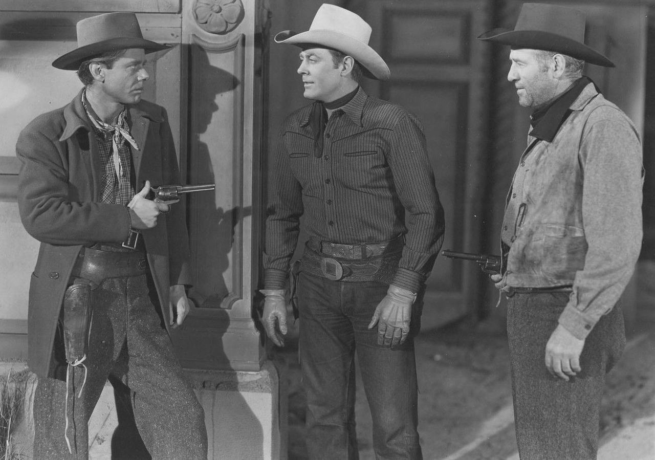 Roy Barcroft, Allan Lane, and Clifton Young in Salt Lake Raiders (1950)