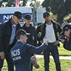 Mark Harmon, Wilmer Valderrama, Sean Murray, Brian Dietzen, and Emily Wickersham in NCIS: Naval Criminal Investigative Service (2003)