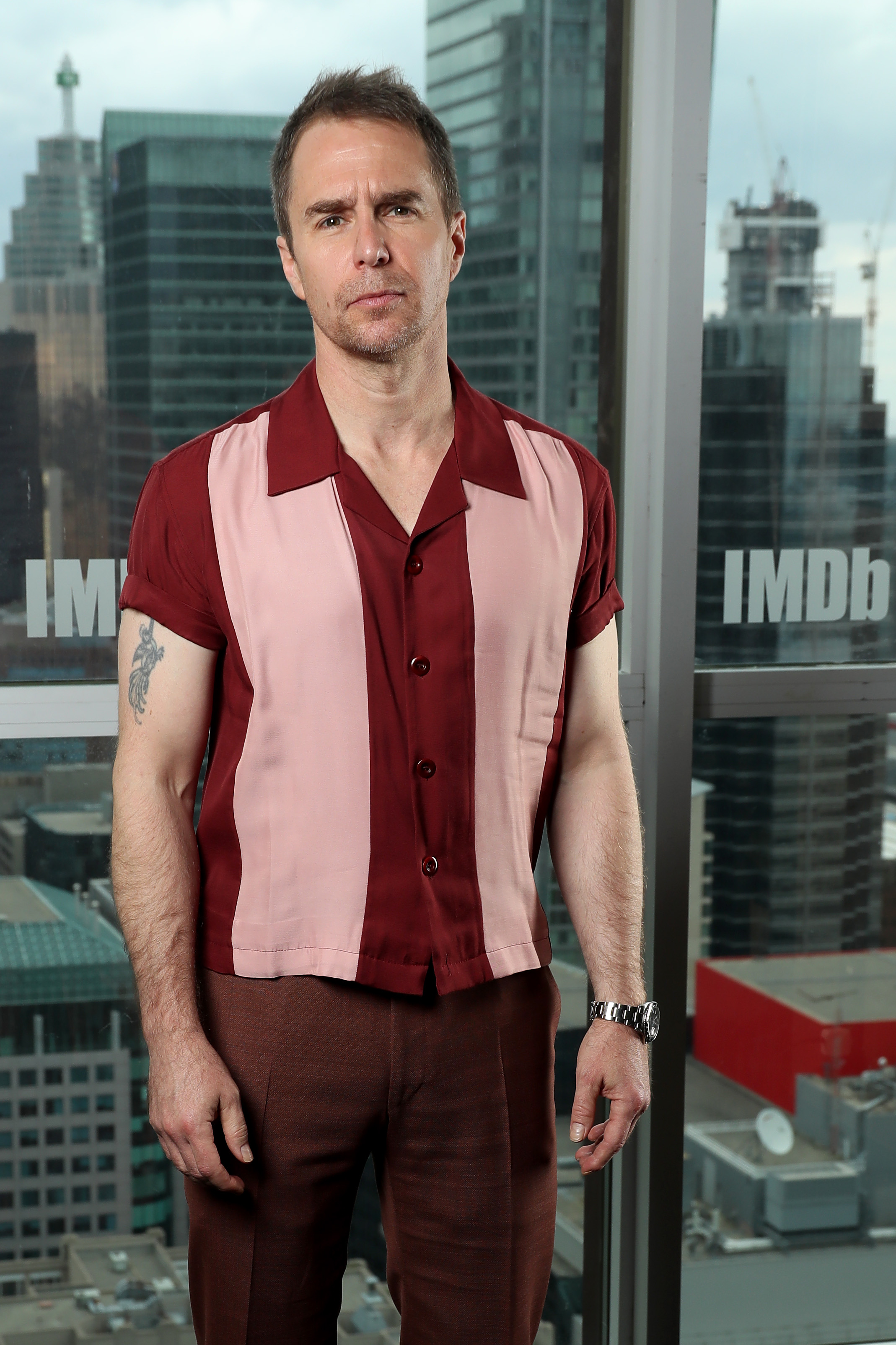 Sam Rockwell at an event for Jojo Rabbit (2019)