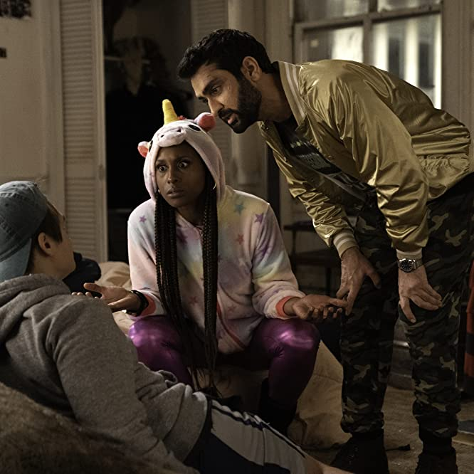 Kumail Nanjiani, Moses Storm, and Issa Rae in The Lovebirds (2020)