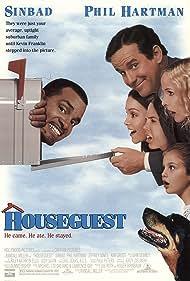 Kim Greist, Sinbad, Phil Hartman, Chauncey Leopardi, Kim Murphy, Talia Seider, and Carl the Dog in Houseguest (1995)