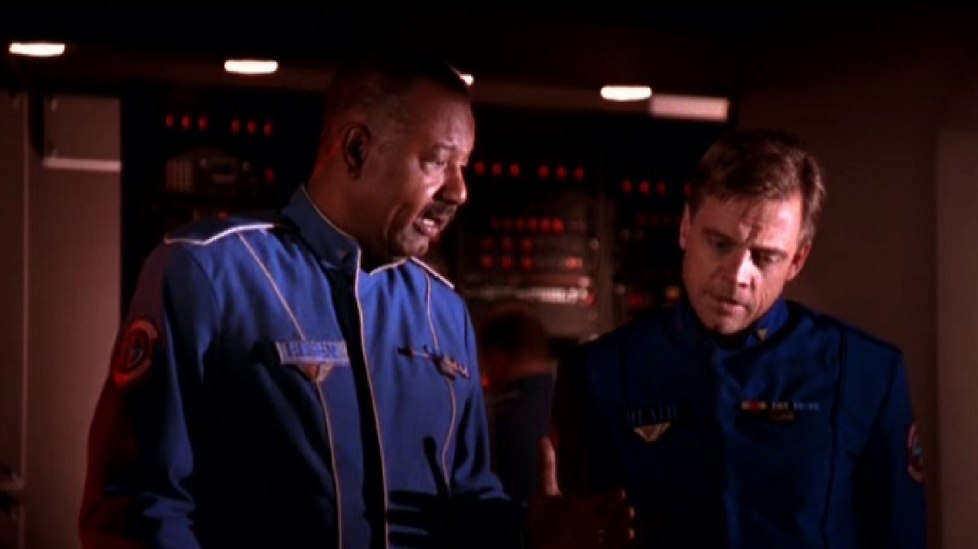 Mark Hamill and Jason Bernard in Wing Commander IV: The Price of Freedom (1995)
