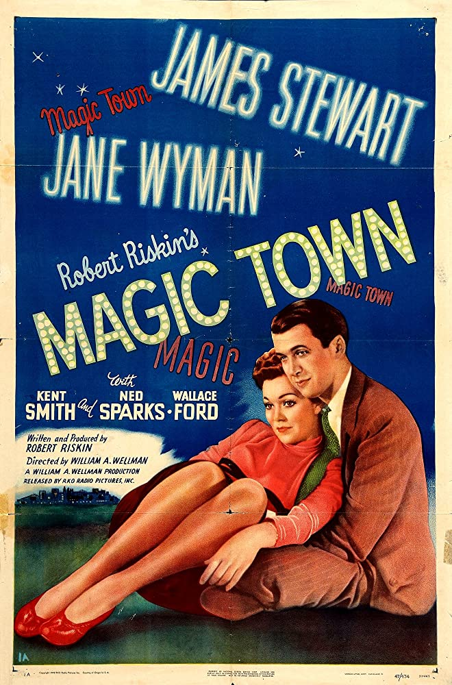 James Stewart and Jane Wyman in Magic Town (1947)