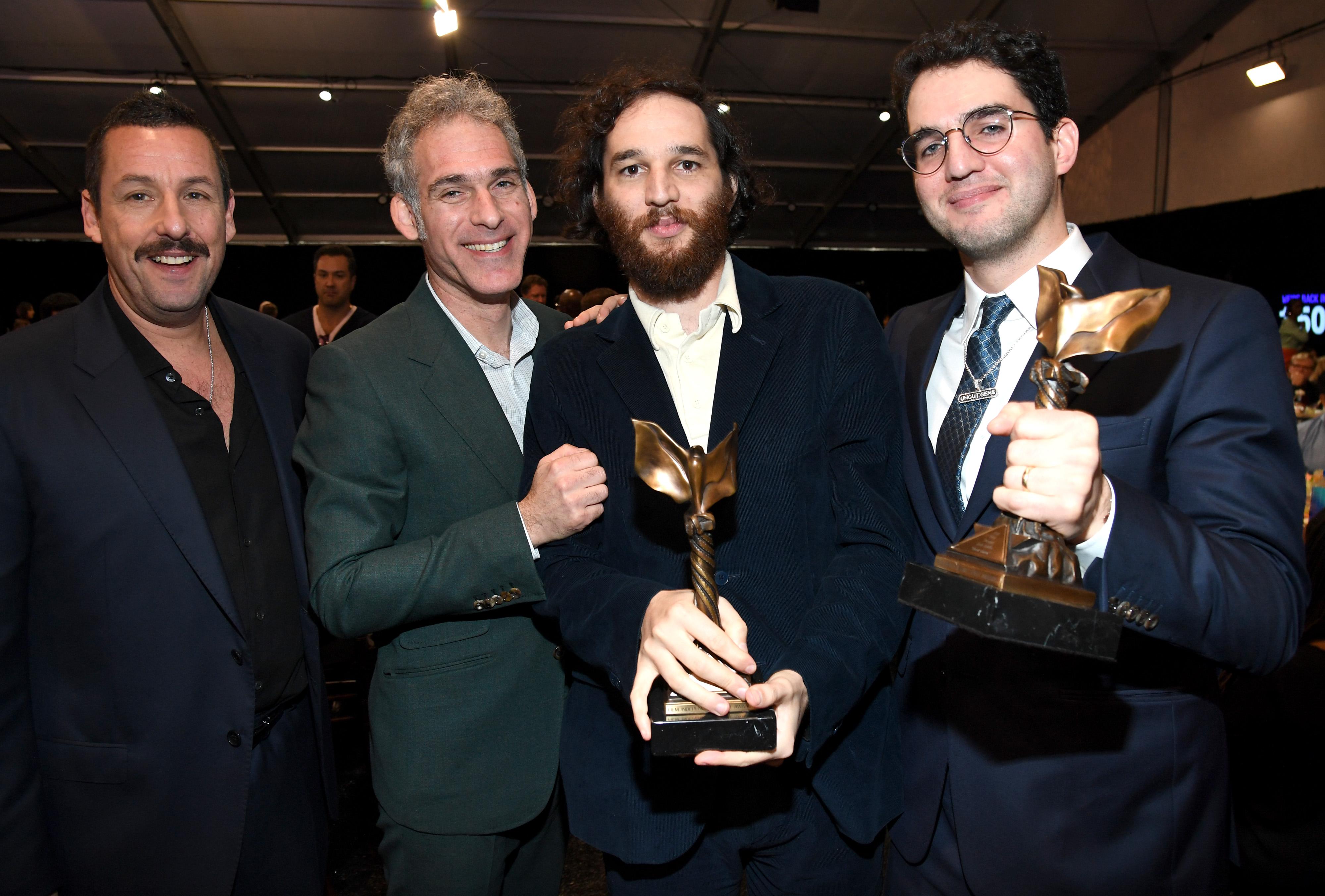 Adam Sandler, Josh Safdie, Benny Safdie, and Ronald Bronstein at an event for 35th Film Independent Spirit Awards (2020)