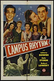 Candy Candido, Johnny Downs, Claudia Drake, Robert Lowery, GeGe Pearson, Gale Storm, and Genevieve Grazis in Campus Rhythm (1943)