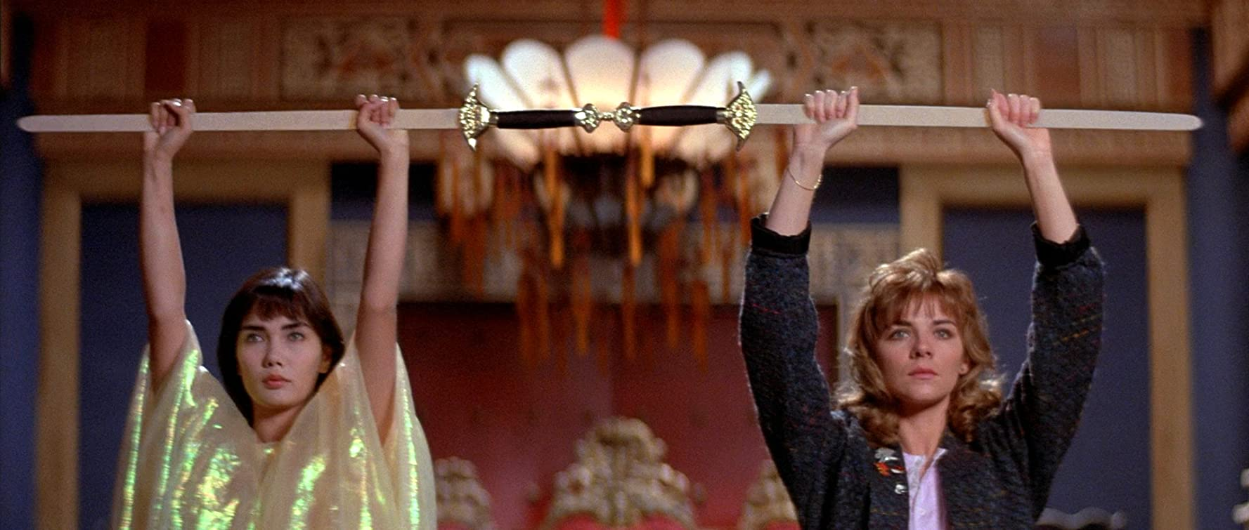 Kim Cattrall and Suzee Pai in Big Trouble in Little China (1986)