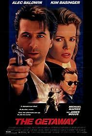 Kim Basinger, James Woods, Alec Baldwin, Philip Seymour Hoffman, and Michael Madsen in The Getaway (1994)