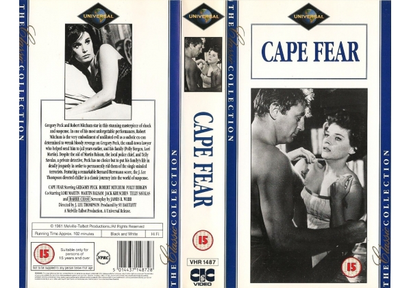Robert Mitchum and Polly Bergen in Cape Fear (1962)