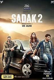 Sanjay Dutt, Alia Bhatt, and Aditya Roy Kapoor in Sadak 2 (2020)
