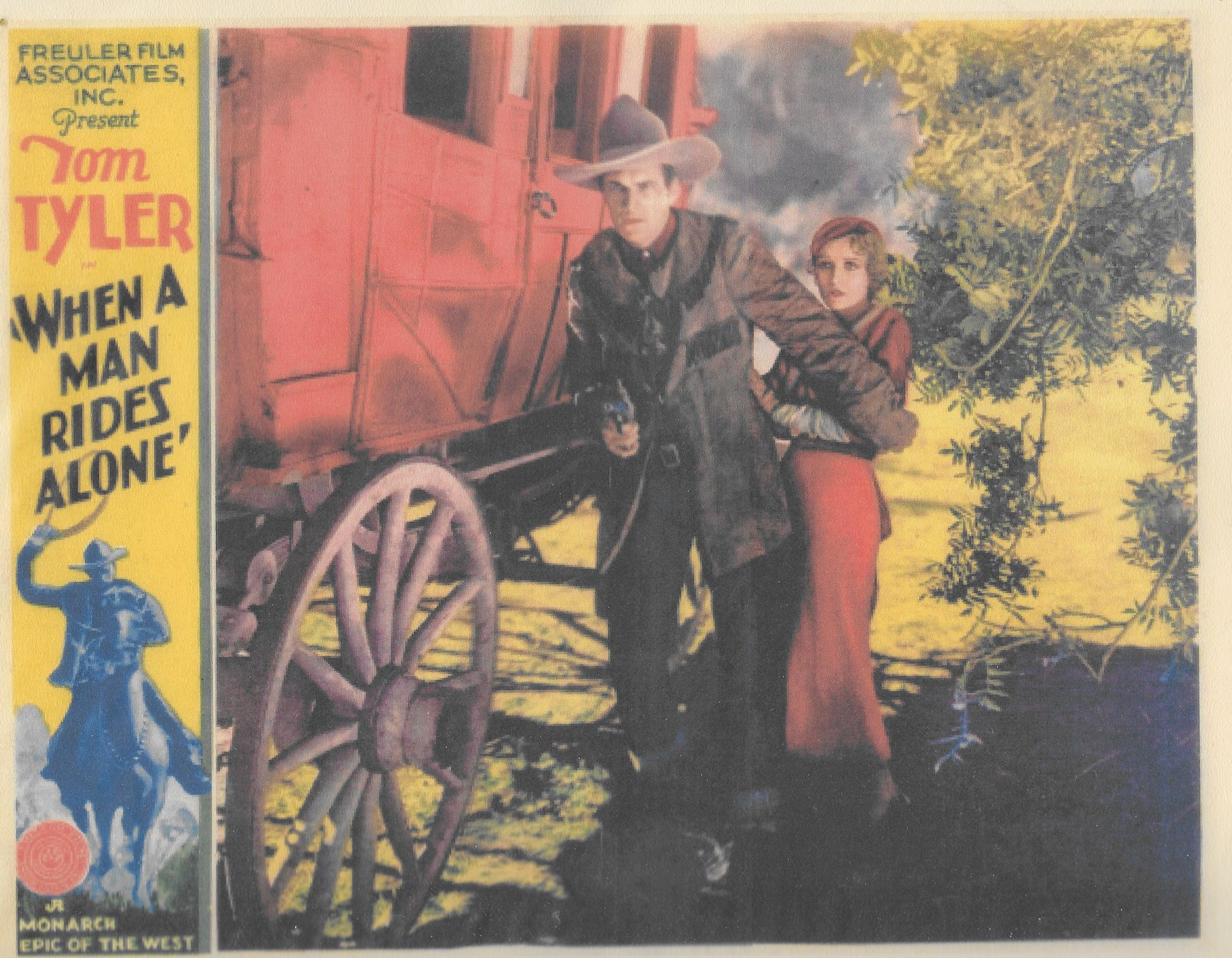 Adele Lacy and Tom Tyler in When a Man Rides Alone (1933)
