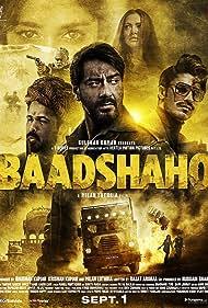 Ajay Devgn, Sanjay Mishra, Emraan Hashmi, Ileana D'Cruz, Esha Gupta, and Vidyut Jammwal in Baadshaho (2017)