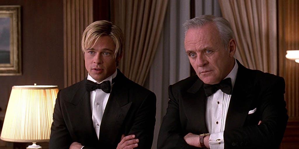 Brad Pitt and Anthony Hopkins in Meet Joe Black (1998)
