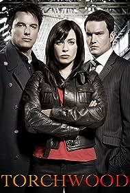 John Barrowman, Eve Myles, and Gareth David-Lloyd in Torchwood (2006)