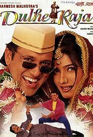 Govinda, Kader Khan, and Raveena Tandon in Dulhe Raja (1998)