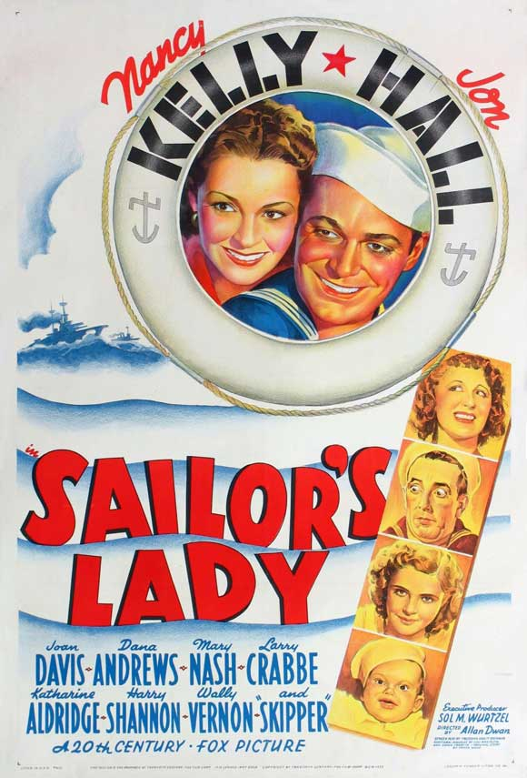 Kay Aldridge, Joan Davis, Jon Hall, Bruce Hampton, Nancy Kelly, and Wally Vernon in Sailor's Lady (1940)